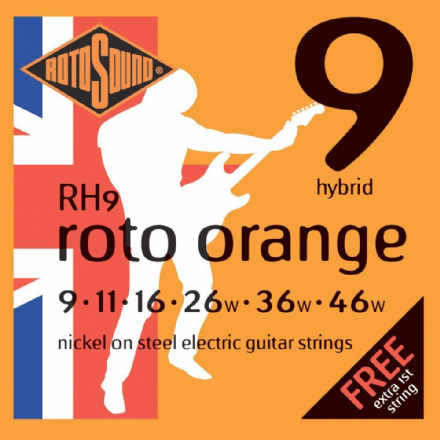 Rotosound RH9 Roto Orange 9-46 Nickel Electric Guitar Strings
